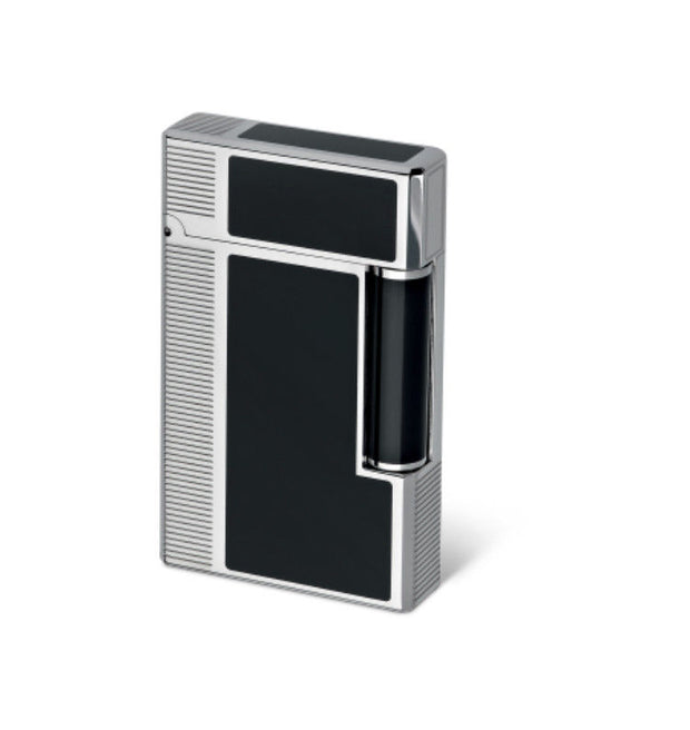 Davidoff Soft Double Flame Prestige Black Lacquer Diacut Palladium Lighter 39932