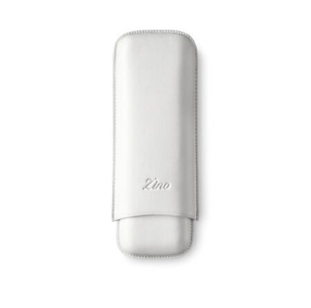 Davidoff Zino Collection XL-2 White Leather Double Two Cigar Case 52337