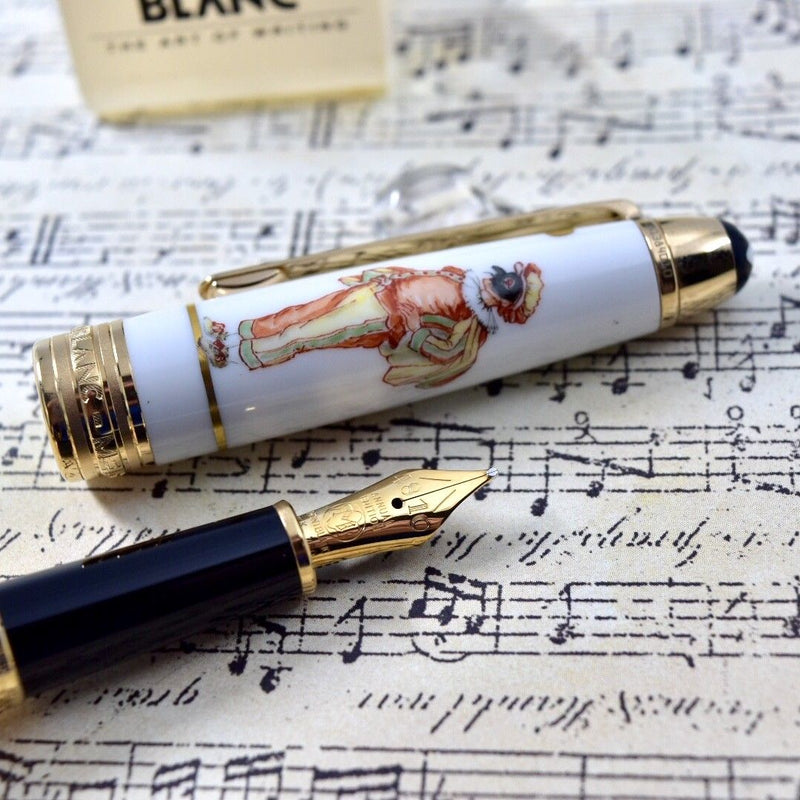 Montblanc Meisterstuck Annual Edition Venetian Carnival Pulcinello Fountain Pen