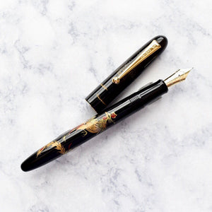 Namiki Nippon Art Chinese Golden Phoenix Maki-e Fountain Pen 14k Gold Nib