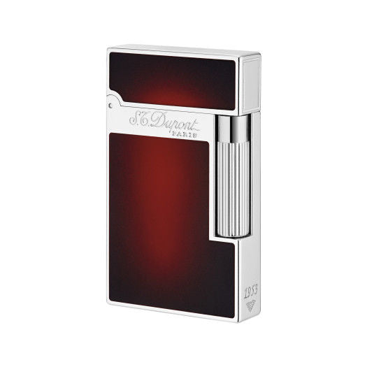 ST Dupont Atelier Red & Palladium finish Natural Lacquer lighter ST016302-ST Dupont-Truphae