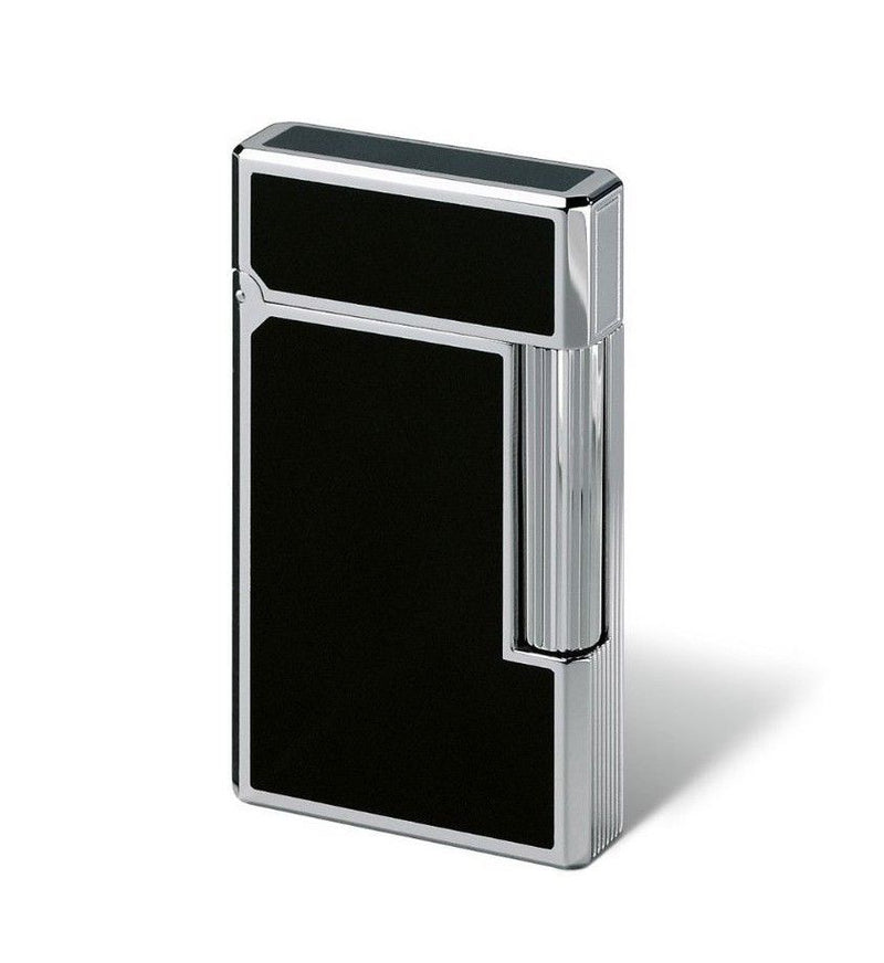 Davidoff Soft Double Flame Prestige Black Lacquer Palladium Coated Lighter 52110