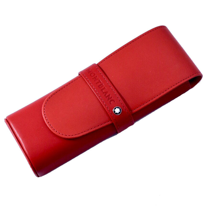 Montblanc Diaries & Notes Bright Red Leather 2 Pen Case with Divider - Fits 149!