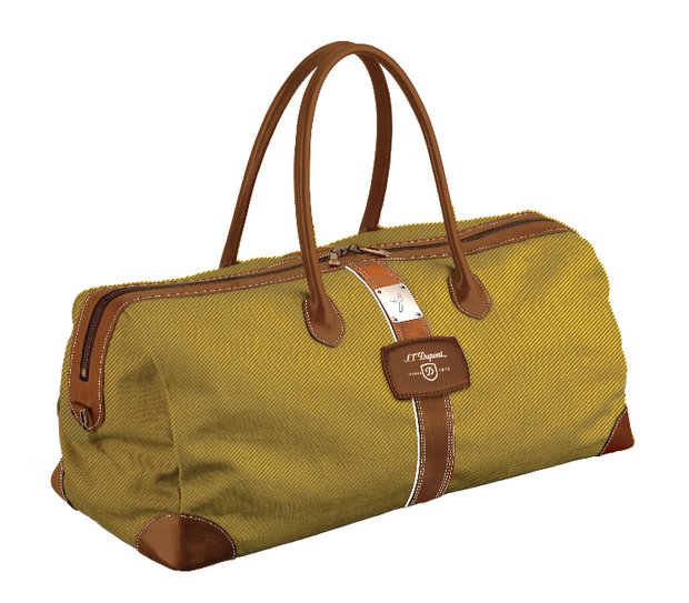 ST Dupont Fender Special Edition Tweed Canvas Leather Cosy Weekender Bag-ST Dupont-Truphae