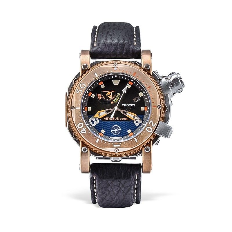 Visconti Abyssus Pro Dive 3000 Bronze & Stainless Steel 45mm Automatic Watch