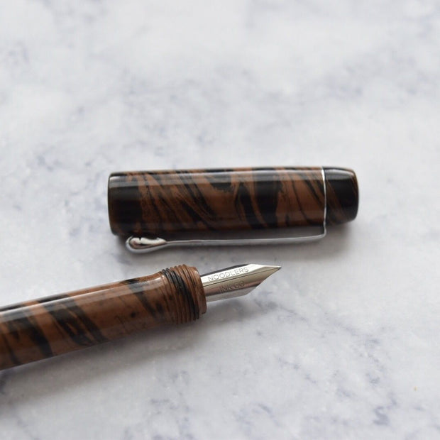 Noodlers Boston Safety Pen Chestnut Brown Ebonite Fountain Pen-Noodlers-Truphae
