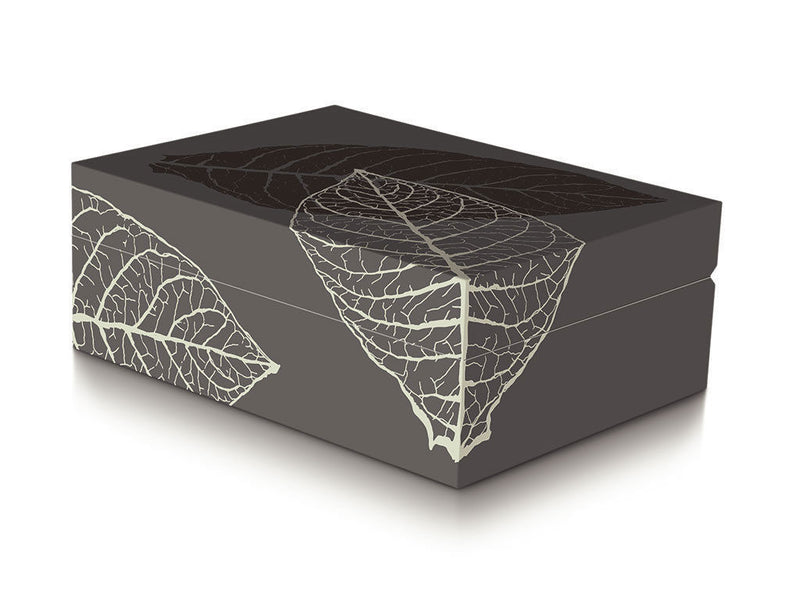 Davidoff Zino Graphic Leaf Collection Small Model Grey Humidor 50 - 60 Cigars