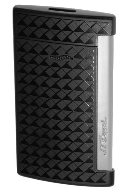 ST Dupont Slim 7 Fire Head Chrome Noir Black Lighter ST027714