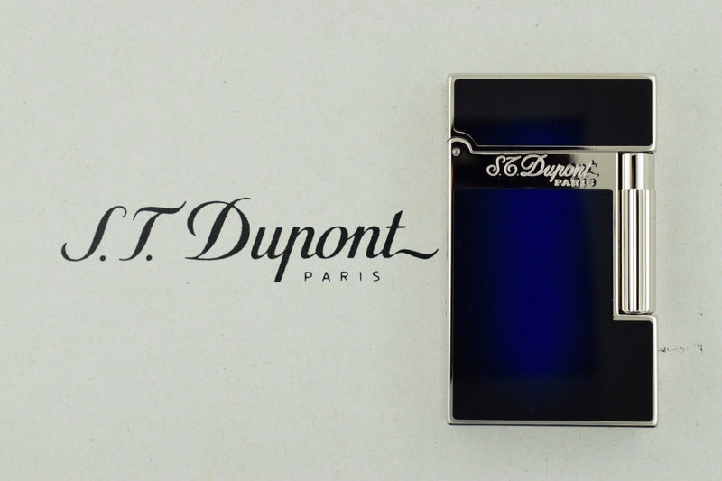 ST Dupont Atelier Blue & Palladium Finish Natural Lacquer Lighter ST016301