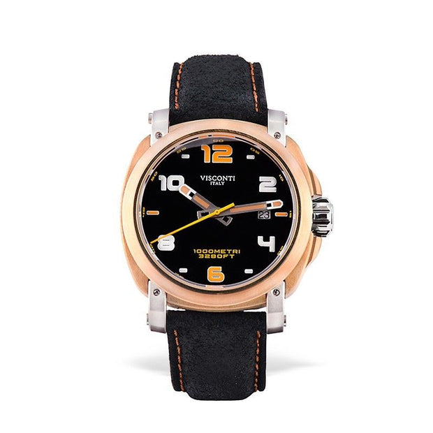 Visconti Italy Majorca Bronze & Stainless Steel Black Dial 43mm Automatic Watch-Visconti-Truphae