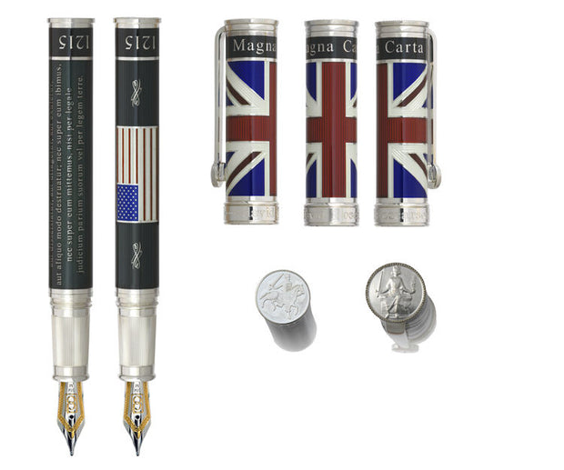 David Oscarson Limited Edition Magna Carta Black Rollerball Pen-David Oscarson-Truphae