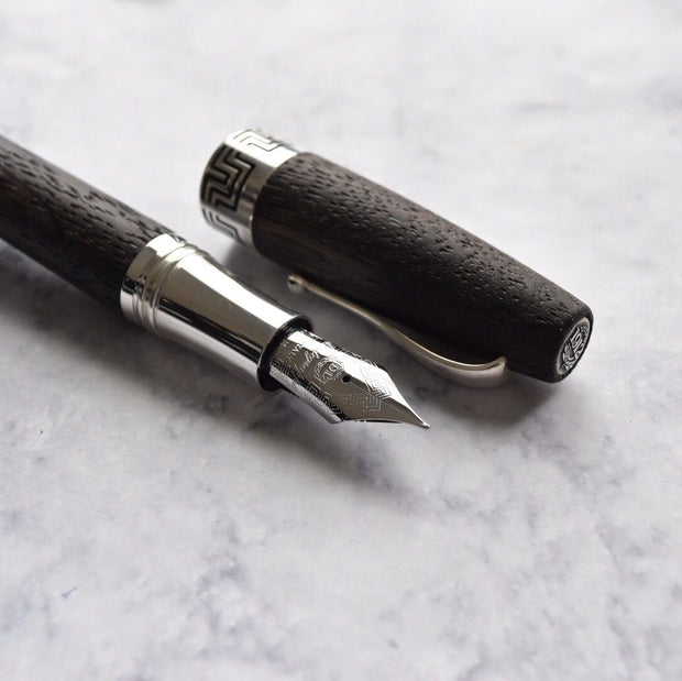 Montegrappa Extra Riverwood Limited Edition Sterling Silver Fountain Pen