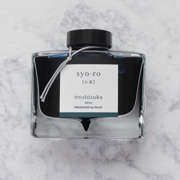 Pilot Iroshizuku Syo-Ro Dew on Pine Tree Turquoise 50ml Ink Bottle-Pilot-Truphae