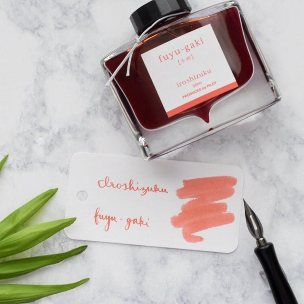 Pilot Iroshizuku Fuyu-Gaki Winter Persimmon Orange 50ml Ink Bottle-Pilot-Truphae