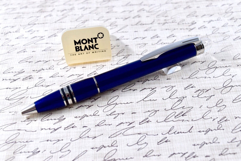 Montblanc Starwalker Cool Blue & Platinum Plated Trim Ballpoint Pen