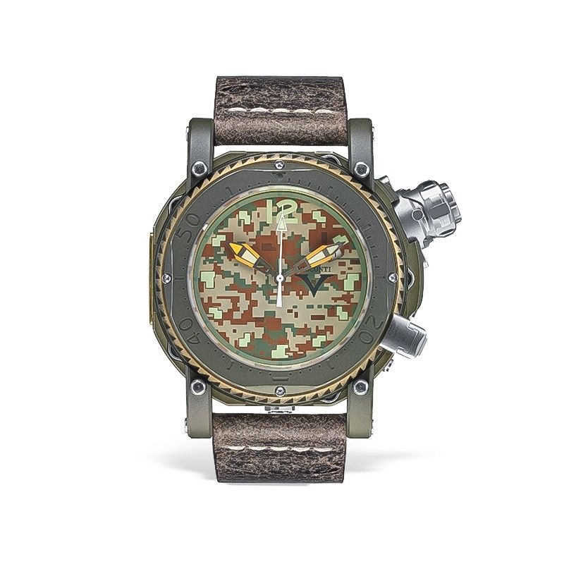Visconti Abyssus Pro Dive 3000 Camo Urban Jungle Stainless Steel Automatic Watch