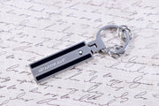 Montblanc Meisterstuck Soft Grain Metal Black & Silver Key Fob 116882