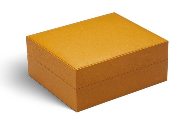 Davidoff Primos Limited Edition Saffron Orange Leather Humidor 25 - 35 Cigars