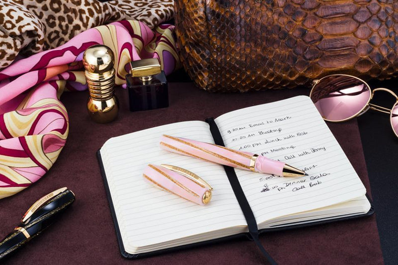 Visconti Divina Fashion 2018 Pink & Gold Trim Rollerball Pen