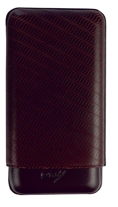Davidoff Brown Leather Enjoyment Pattern XL-3 Triple Three Cigar Case 106759
