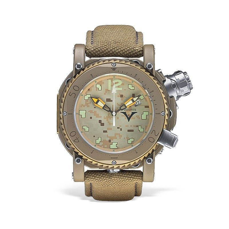 Visconti Abyssus Pro Dive 3000 Camo Urban Desert Stainless Steel Automatic Watch
