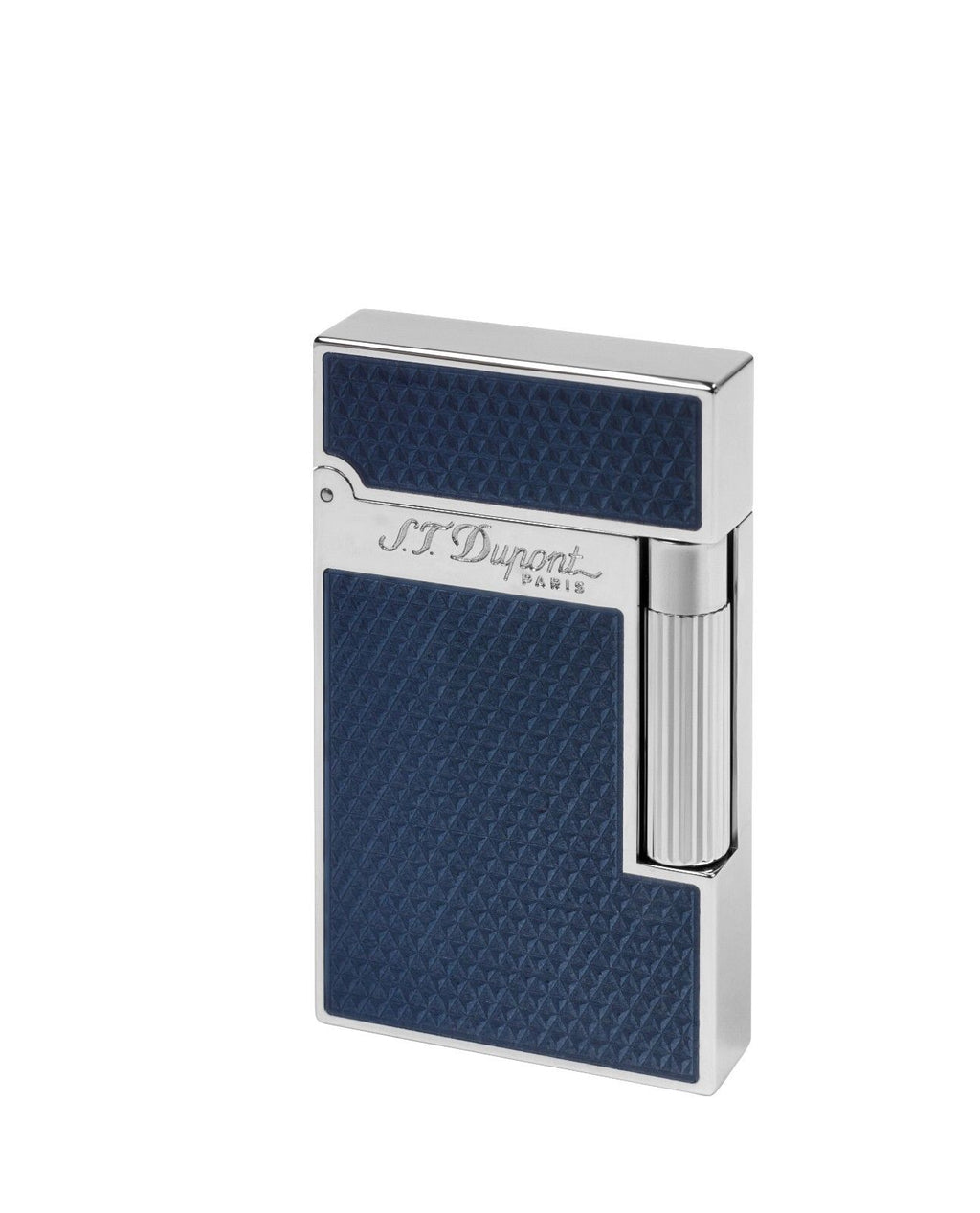 ST Dupont Ligne 2 Fire Head Over Blue Lacquer Palladium Finish Lighter ST016252