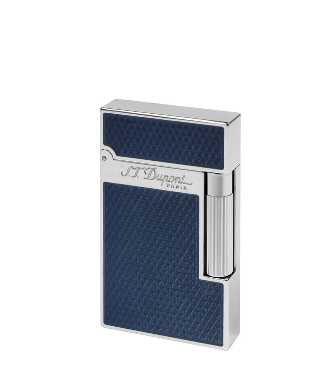 ST Dupont Ligne 2 Fire Head Over Blue Lacquer Palladium Finish Lighter ST016252-ST Dupont-Truphae