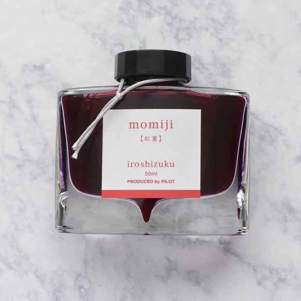 Pilot Iroshizuku Momiji Autumn Leaves Crimson Red 50ml Ink Bottle-Pilot-Truphae