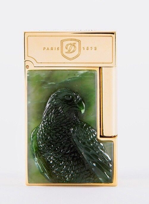 ST Dupont Stones of Fortune Peregrine Falcon Jade Limited Edition of 288 Lighter-ST Dupont-Truphae