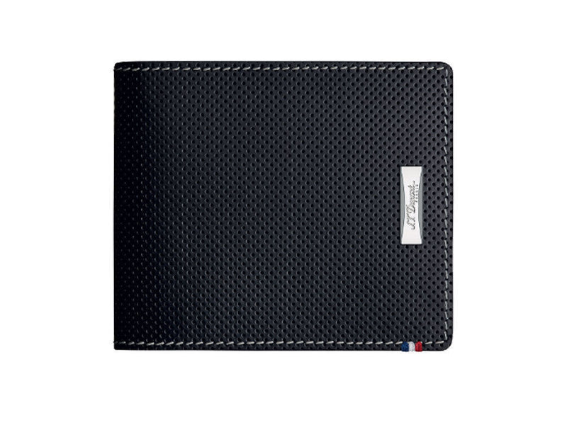 ST Dupont Defi Black Perforated Leather 6cc Billfold Wallet ST170401