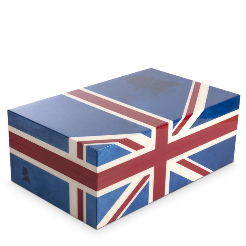 Davidoff Ambassador Winston Churchill Collection Union Jack Humidor 70-80 Cigars