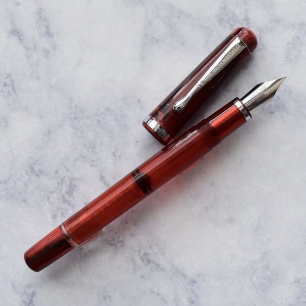 Noodlers Konrad Northern Pike Red Fountain Pen Flex Nib-Noodlers-Truphae