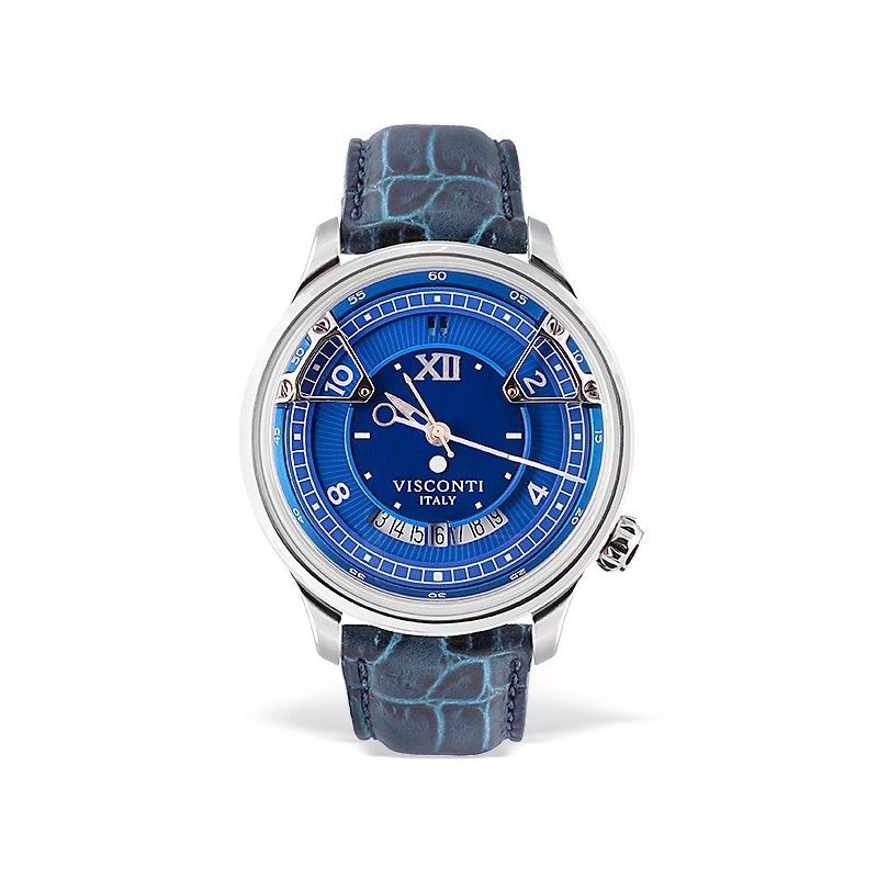 Visconti Italy Opera Stainless Steel with Blue Dial 43.5mm Automatic Watch