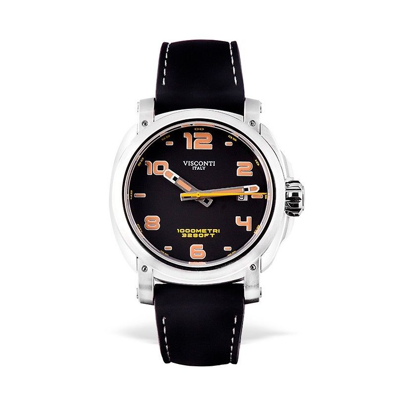 Visconti Italy Majorca Stainless Steel with Black Dial 43mm Automatic Watch