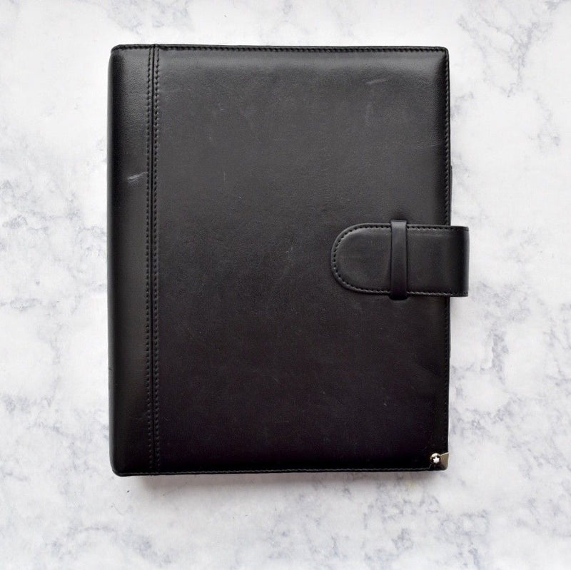 Montblanc Black Soft Leather Agenda with Pen Holder