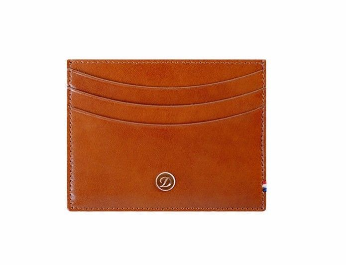 ST Dupont Line D Brown Leather 6 CC Credit Card Holder ST180108