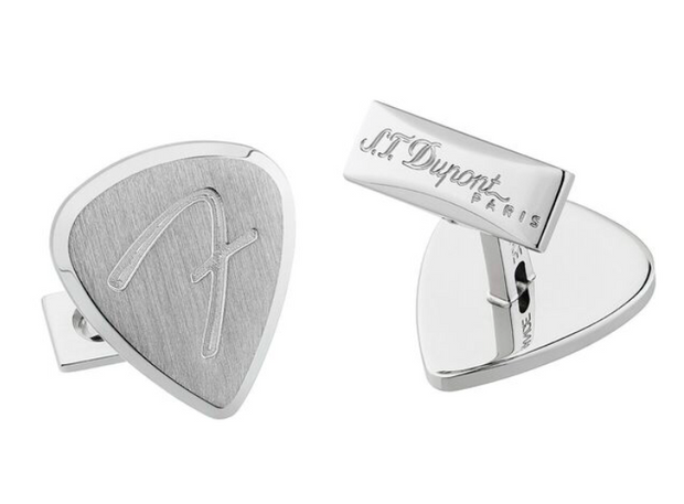 ST Dupont Fender Special Edition Palladium Finish Cufflinks Set ST005527-ST Dupont-Truphae