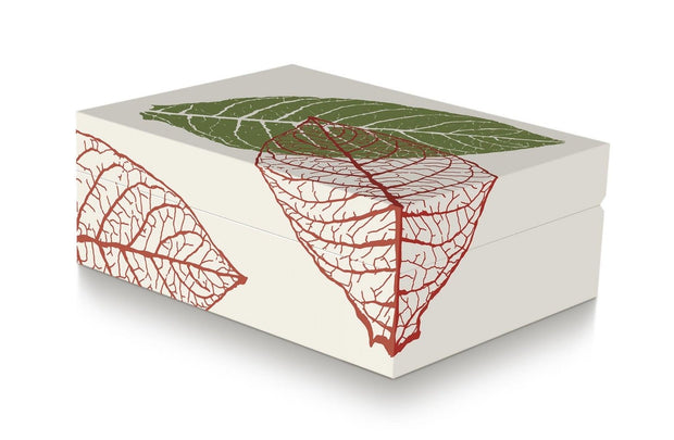 Davidoff Zino Graphic Leaf Collection Small Model Beige Humidor for 50 - 60 Cigars-Davidoff-Truphae