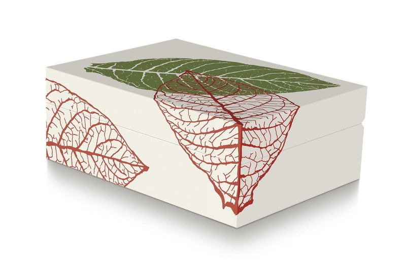 Davidoff Zino Graphic Leaf Collection Small Model Beige Humidor for 50 - 60 Cigars