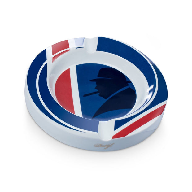 Davidoff Limited Edition Winston Churchill Union Jack Porcelain Ashtray 111783-Davidoff-Truphae