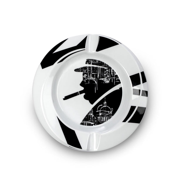 Davidoff Limited Edition Winston Churchill London White Porcelain Ashtray 111784-Davidoff-Truphae