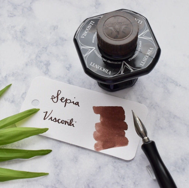 Visconti Sepia Brown 40ml Ink Bottle-Visconti-Truphae