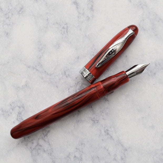 Noodlers Ahab Cardinal Darkness Red Piston Fill Fountain Pen Flex Nib-Noodlers-Truphae