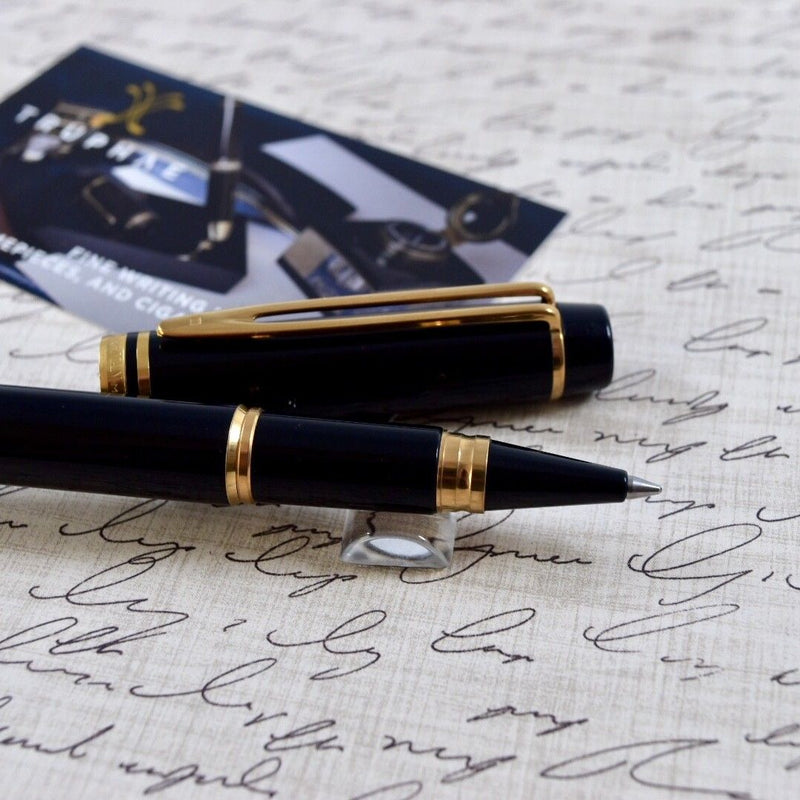 Waterman Man 200 Black & Gold Plated Trim Rollerball Pen