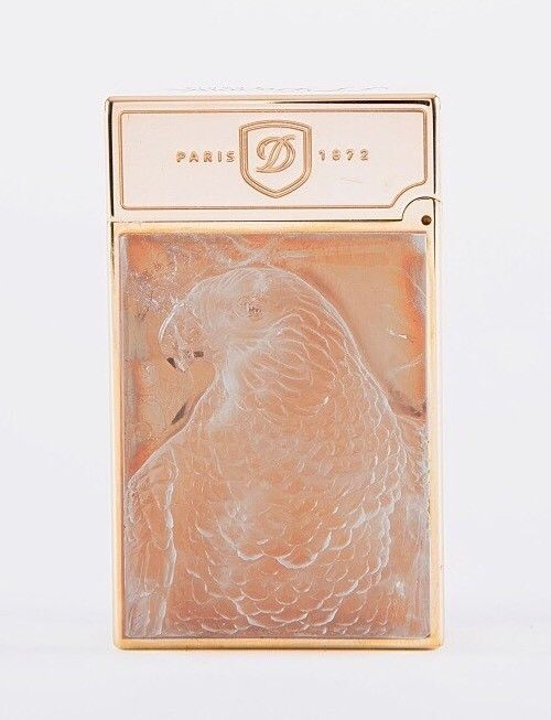 ST Dupont Stones Fortune Peregrine Falcon Rock Crystal Limited Edition Lighter-ST Dupont-Truphae