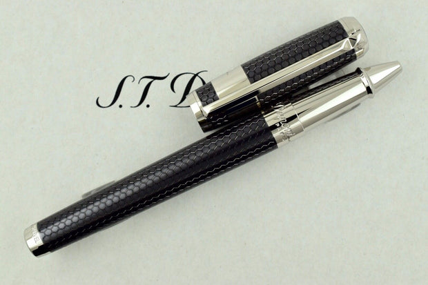 ST Dupont Iron Man Tony Stark Grey Honeycomb Finish Rollerball Pen ST412707-ST Dupont-Truphae