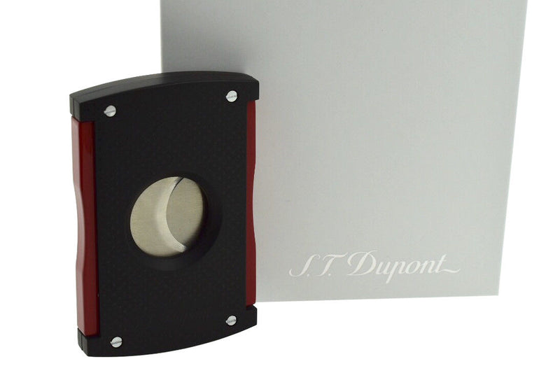 ST Dupont Maxijet Black & Red Perforated Design Cigar Cutter ST003260