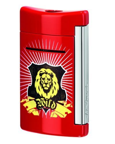 ST Dupont MiniJet Red Wild Lion Torch Lighter ST010082-ST Dupont-Truphae