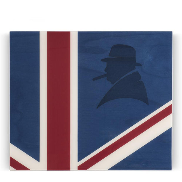 Davidoff Primos Winston Churchill Collection Union Jack Humidor 25 - 35 Cigars