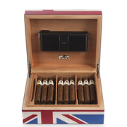 Davidoff Primos Winston Churchill Collection Union Jack Humidor 25 - 35 Cigars-Davidoff-Truphae
